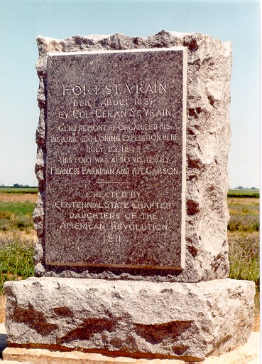 Monument erected at the Fort by the Daughters of the American Revolution...